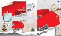 Weihnachten Papier Vektor