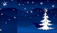 手描きのブラシ ストロークのクリスマス ツリーのベクター素材