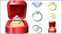 शादी की अंगूठी वेक्टर
