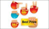 إيماءات أيقونة مبيعات مواد مكافحة ناقلات
