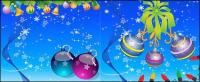 Santa Claus, socks, hanging balls, skis, angel, candles