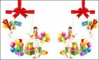 선물, 활, 풍선