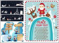 Señales de carretera, madera, sombreros de Navidad, signos flechas