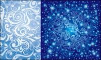 꽤 블루 패턴 벡터