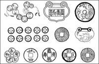 Китайские монеты векторного материала
