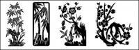 대나무 매 화 벡터