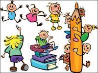 विद्यार्थियों, पेंसिल, पुस्तक