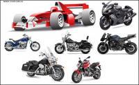 オートバイ レース車のベクター素材