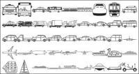 Autobuses, taxis, mezclador, barcos, transbordadores espaciales, excavadoras