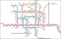 Beijing Subway Transport Vektoren