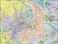 上海のベクトル地図