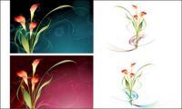 वेक्टर काल्पनिक फूल सामग्री -15
