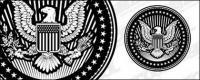 यूरोपीय और अमेरिकी ईगल सचित्र शैली परिपत्र वेक्टर सामग्री