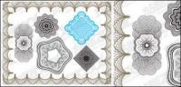Líneas de seguridad vector estilo textura material-2