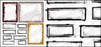 インク スタイル罫線のベクター素材