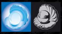 Vektor materiell Perlmuscheln