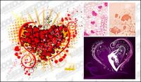 4, the trend of heart-shaped elements of vector material
