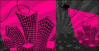 The trend of urban vector illustrations material-2
