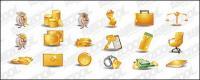 Geld gold Thema Symbol Vektor-material