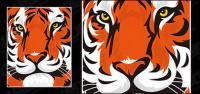 Material de vetor cabeça de tigre em destaque