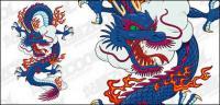 Matériau de vecteur de Dragon chinois