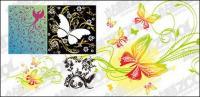 4، الطيور أو فراشة تركيبة من نمط المواد المتجهة