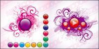 Crystal Ball mit dem Muster-Vektor-material