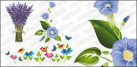 flores requintadas de vetor material
