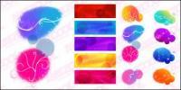 カラー インク パターン ベクトル幻想素材