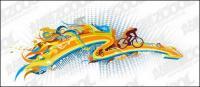 Die Entwicklung des Radsports Element Vektor-material