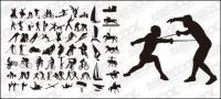 Alle Arten von Sport Action vector Silhouette Material-2