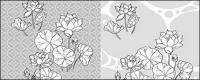 Strichzeichnung Blumen-21