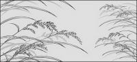 Dibujo de líneas de flores -23