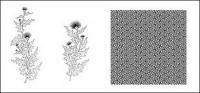 रेखा आरेखण के फूल -10