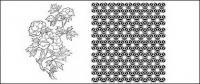 Dibujo de líneas de flores -11