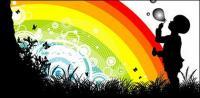 Regenbogen-Vektor-material