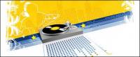 DJ música elemento vector de material