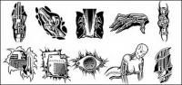 Logotipo de objetos de metal