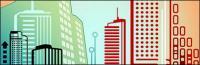 Líneas de vector compuesto por material de edificios