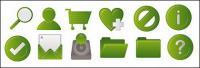 Green common web design style icon