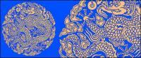 Radio de dragón chino clásico logotipo