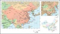 Carte de vecteur de Chine