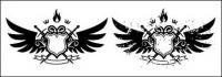 Alas, escudo, espada, cartera de fuego