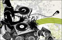 Música de DJ e padrões de vetor