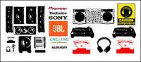 लोगो वेक्टर ब्रांड ऑडियो उपकरण और ऑडियो