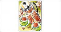 Kaffee Thema Vektor Illustrationen-material