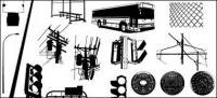 이동 미디어 생산 벡터 소재-도시 공공 시설