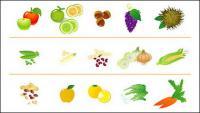 果物や野菜のアイコン