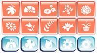 Icono de vector de tema de flor