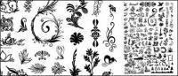수백 개의 패턴, 곤충, 나무 및 기타 벡터 자료